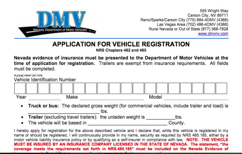 Conducir sin o con registro vencido en Las Vegas, Nevada