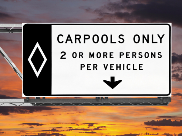 Carpool lane violations in Nevada
